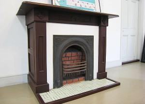 2階の暖炉